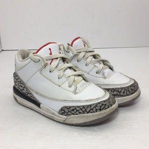 Jordan retro 3 white cement size 9c